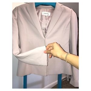 Calvin Klein purple women's blazer one button NWOT